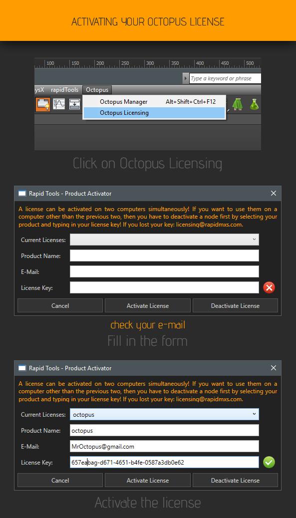 OCTOPUS LICENSING – rapidMXS